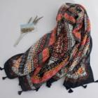 Tasseled Linen Cotton Scarf