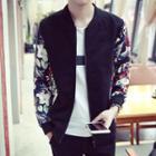 Floral Sleeve Zip Jacket