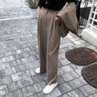 High-waist Pleated Dress Pants