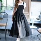 A-line Maxi Pinafore Dress