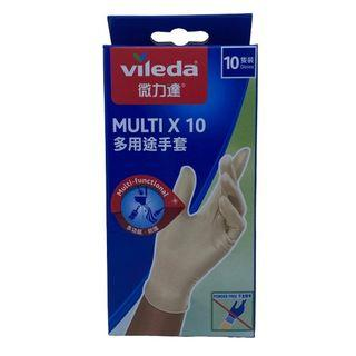 Vileda - Mulit-purpose Disposable Latex Gloves, 10pcs 1 Pack (10pcs)