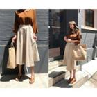 Wrap-front Flare Skirt