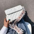 Print Quilted Crossbody Bag