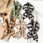 Argyle Knit Narrow Scarf