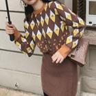 Patterned Sweater / Knit Pencil Skirt