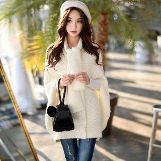 Tie Cape Knit Top