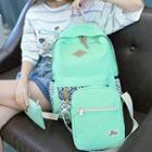 Dotted Canvas Backpack Set