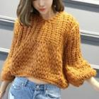 Cropped Loose-fit Sweater