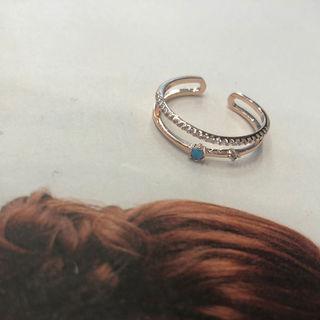 Gemstone Rhinestone Ring Pink - One Size