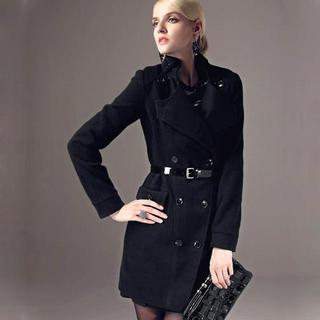 Tie-waist Double-breasted Coat