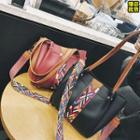 Bucket Bag With Colour Patterned Strap