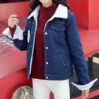 Fleece-lining Denim Jacket