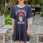 Printed Mini Sailor Dress