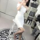 Set: Off-shoulder Top + Mini Skirt