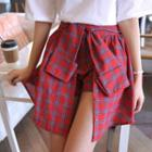 Layered Check A-line Skirt