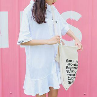 Short-sleeve Polo Shirtdress