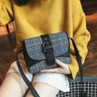 Plaid Tweed Crossbody Bag