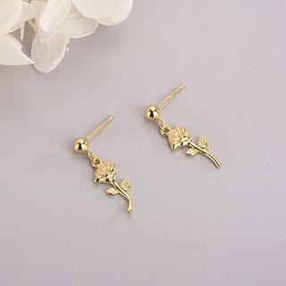 Rose Dangle Earring Es1351 - One Size