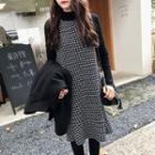 Patterned Pinafore Dress