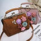Floral Applique Crossbody Bag