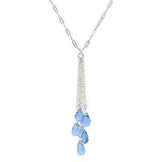 Silver, Blue Topaz Necklace