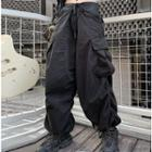 Ruffle Cargo Pants As Shown In Figure - One Size