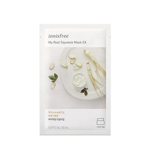 Innisfree - My Real Squeeze Mask Ex - 14 Types Ginseng