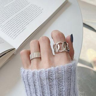 925 Sterling Silver Open Ring / Hoop Link Ring
