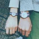 Couple's Matching Canvas Strap Watch
