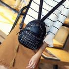 Faux-leather Studded Mini Backpack