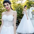 Lace-panel Wedding Dress