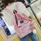 Applique Velvet Lightweight Backpack