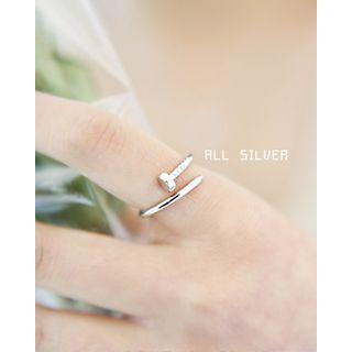 Nail Silver Open Ring