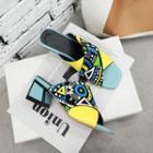 Block-heel Print Band Sandals