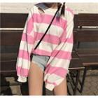 Ripped Striped Sweatshirt