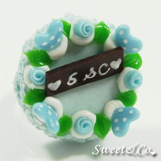 S&c Sweet Ribbon Blue Rose Cake Ring