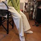 Ribbed Corduroy Wide-leg Pants