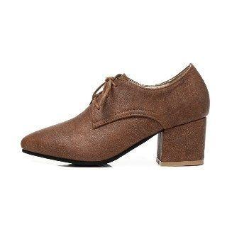 Faux-suede Lace-up Shoe Boots