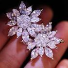 Flower Cz Earrings