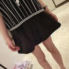 Plain Pleated Shorts