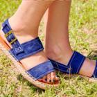 Genuine-suede Espadrille Flat Sandals
