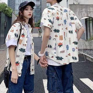 Couple Matching Hawaiian Style Shirt