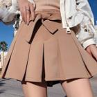 Chiffon A-line Mini Pleated Skirt