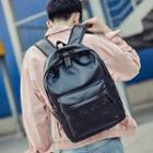 Star Faux Leather Backpack
