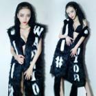 Sleeveless Furry Long Jacket