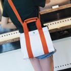 Two-tone Canvas Shoulder Bag