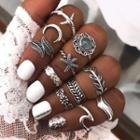 Set Of 11: Alloy Ring (assorted Designs) Set Of 11 - One Size