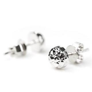 Disco Ball Earring (9mm) 14k/586 White Gold