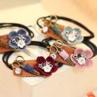 Floral Scissors Hair Tie