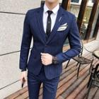 Set : Pinstripe Blazer + Vest + Dress Pants